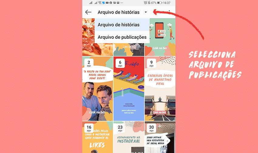 Tutorial: como arquivar publicações no Instagram