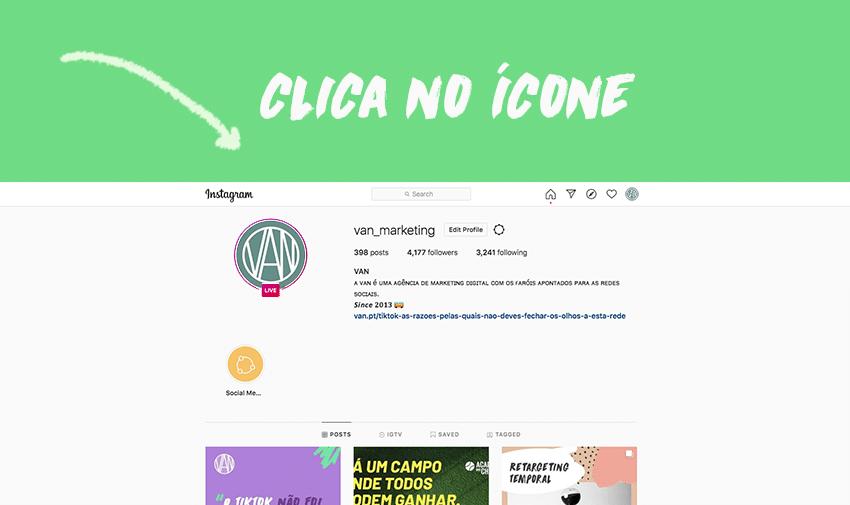#1 - Clica no ícone