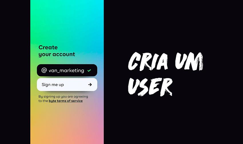 Cria um user