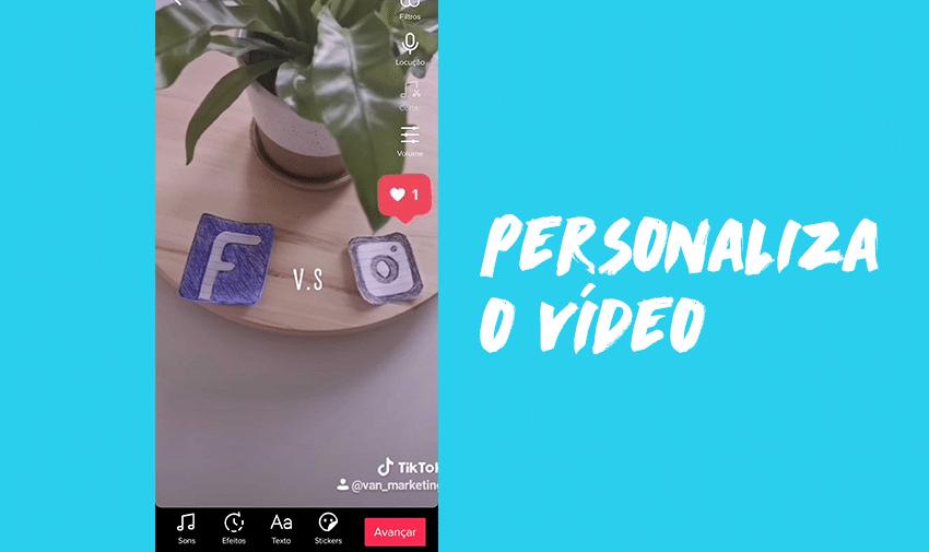 Personaliza o vídeo