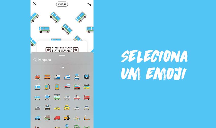 Seleciona um emoji