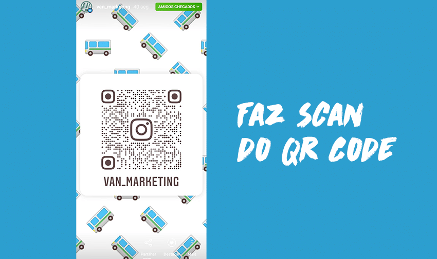 Faz scan dos QR Codes do Instagram