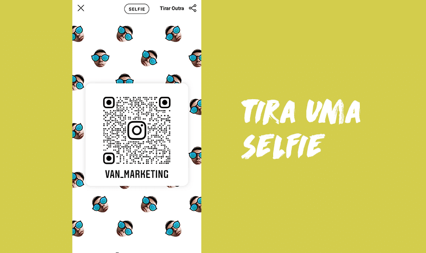 Tira uma selfie