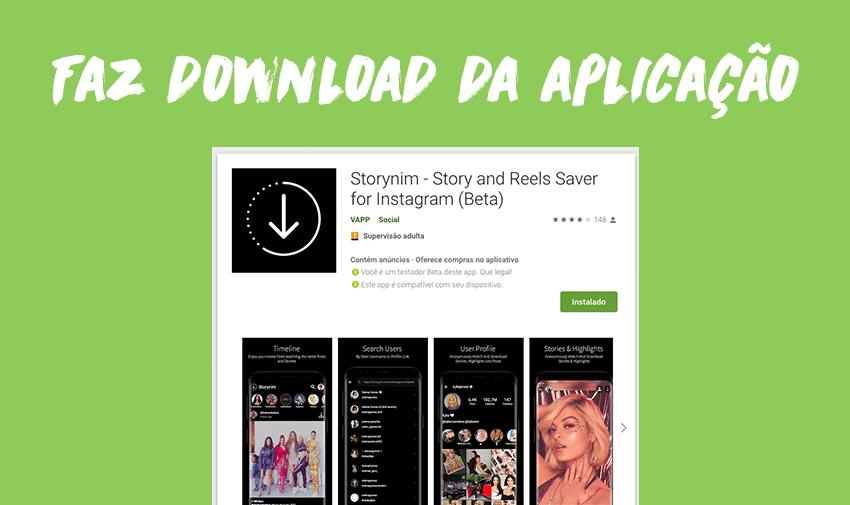 Faz download da aplicação