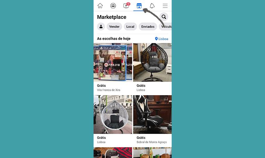 Como chegar ao Facebook Marketplace