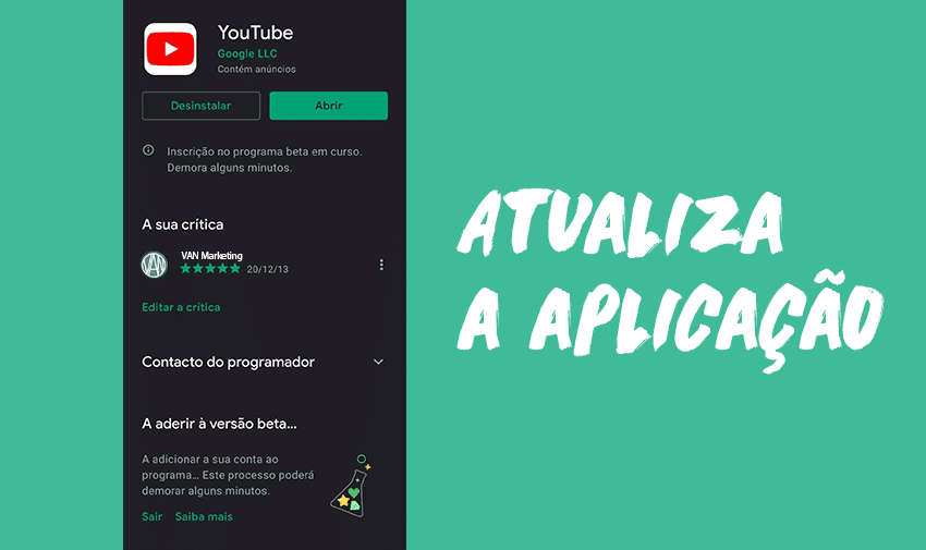 Atualiza o YouTube