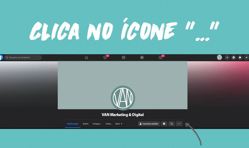 """Clica no ícone """"..."""""""