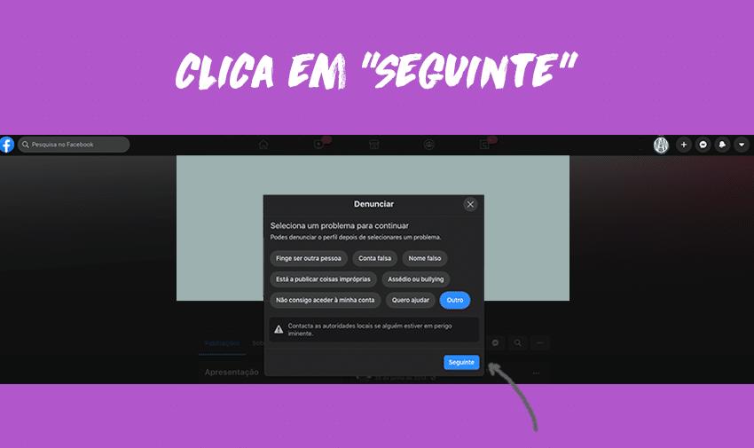"""Clica em """"Seguinte""""."""