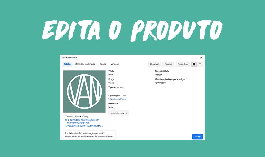 Editar um produto.