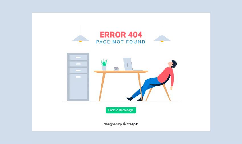 Erro 404 - page not found