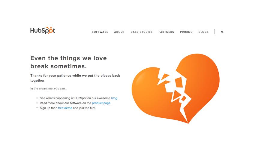 Exemplo da HubSpot
