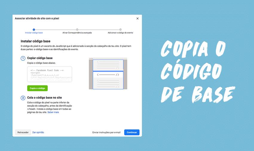 Copia o código de base