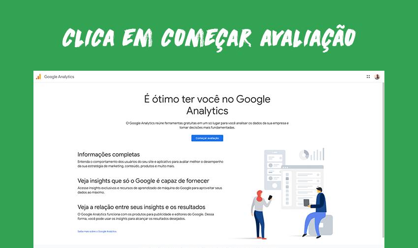 """Clica em """"Começar avaliação""""."""