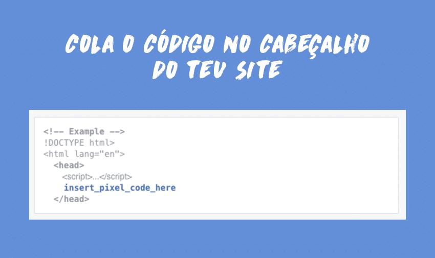 Cola o código no cabeçalho do teu site