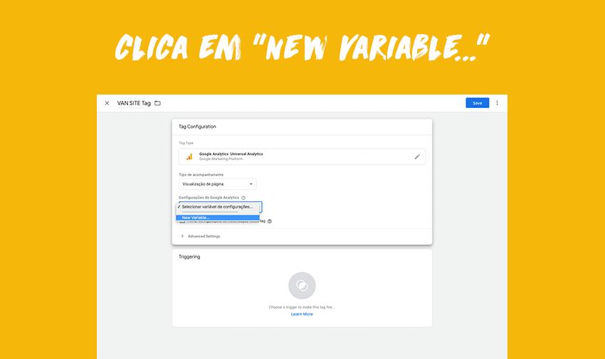 """Clica em """"New variable...""""."""