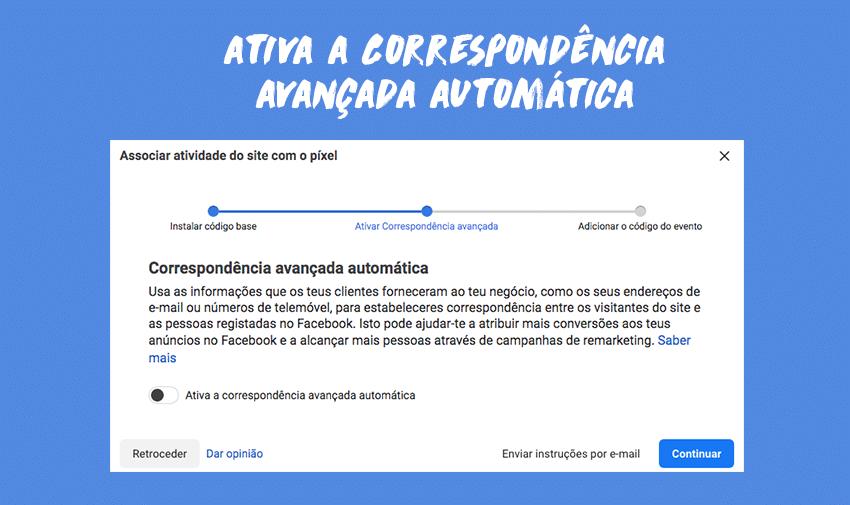 Ativa a Correspondência avançada automática