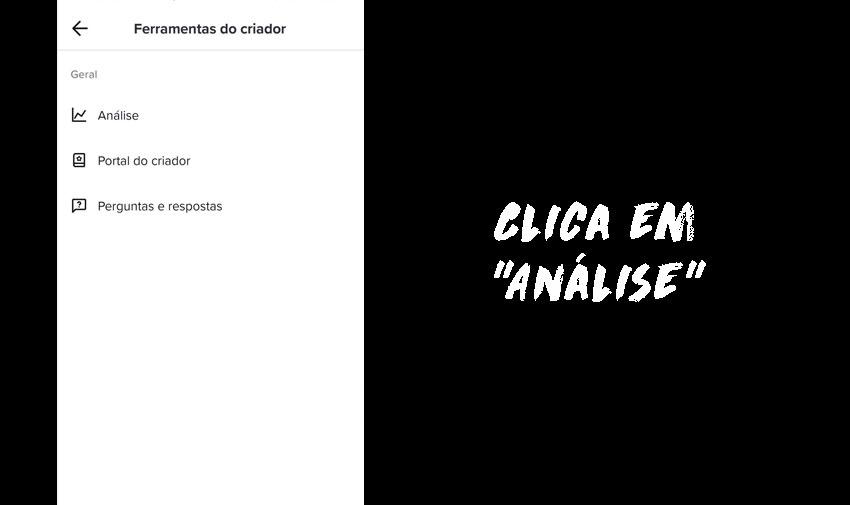 """Clica em """"Análise""""."""
