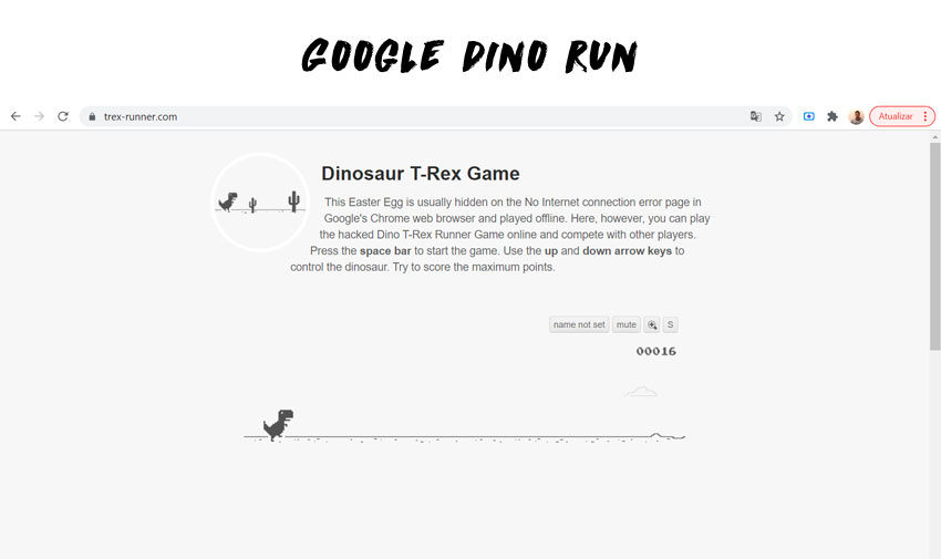T-Rex Game – Google Dino Run